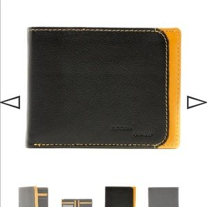 Brand New RFID Black Two Tone Leather Wallet